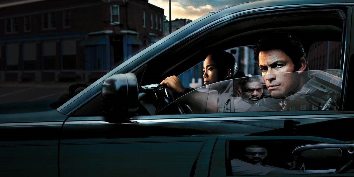 Dominic West , Sonja Sohn, and Idris Elba in The Wire