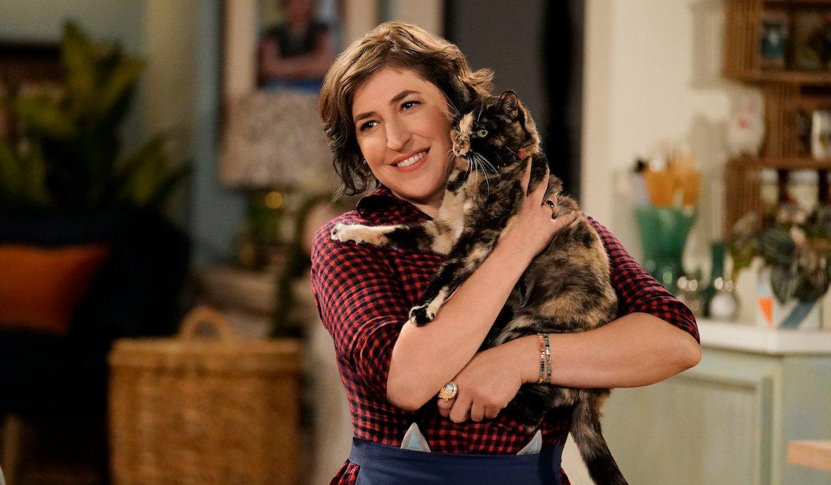 call me kat mayim bialik hugging cat