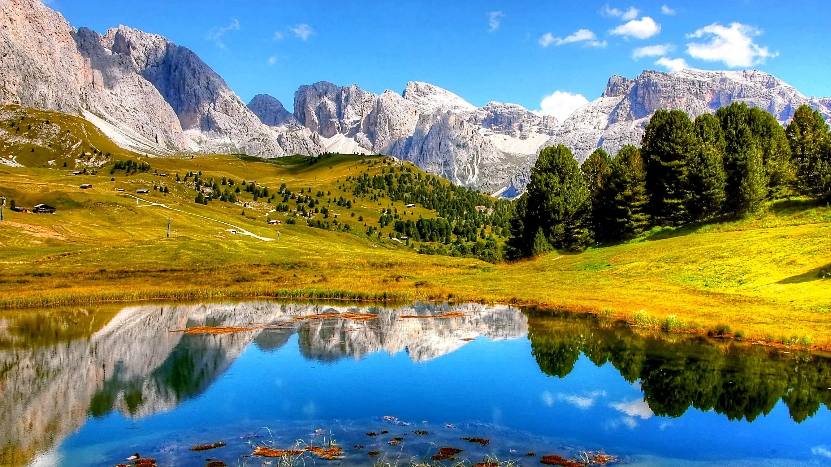 Landscape shot showing large depth of field