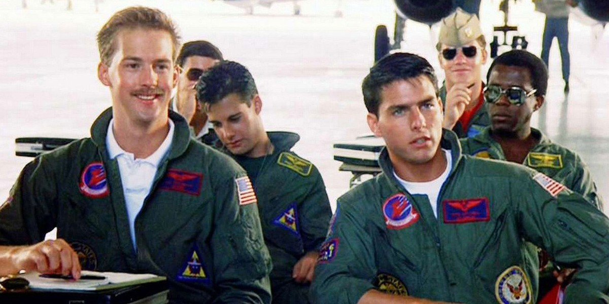 Anthony Edwards ad Tom Cruise in Top Gun