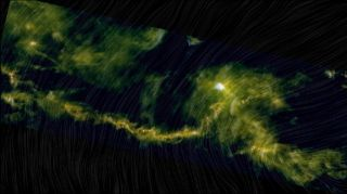 This image, created using data from the European Space Agency's Herschel and Planck space telescopes, shows a piece of the Taurus Molecular Cloud.