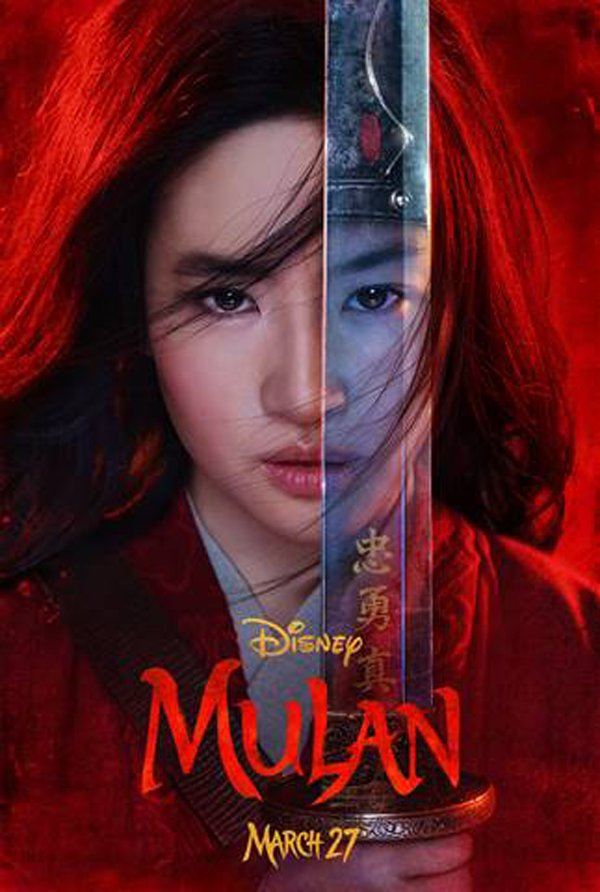 Disney poster for live-action Mulan 2020