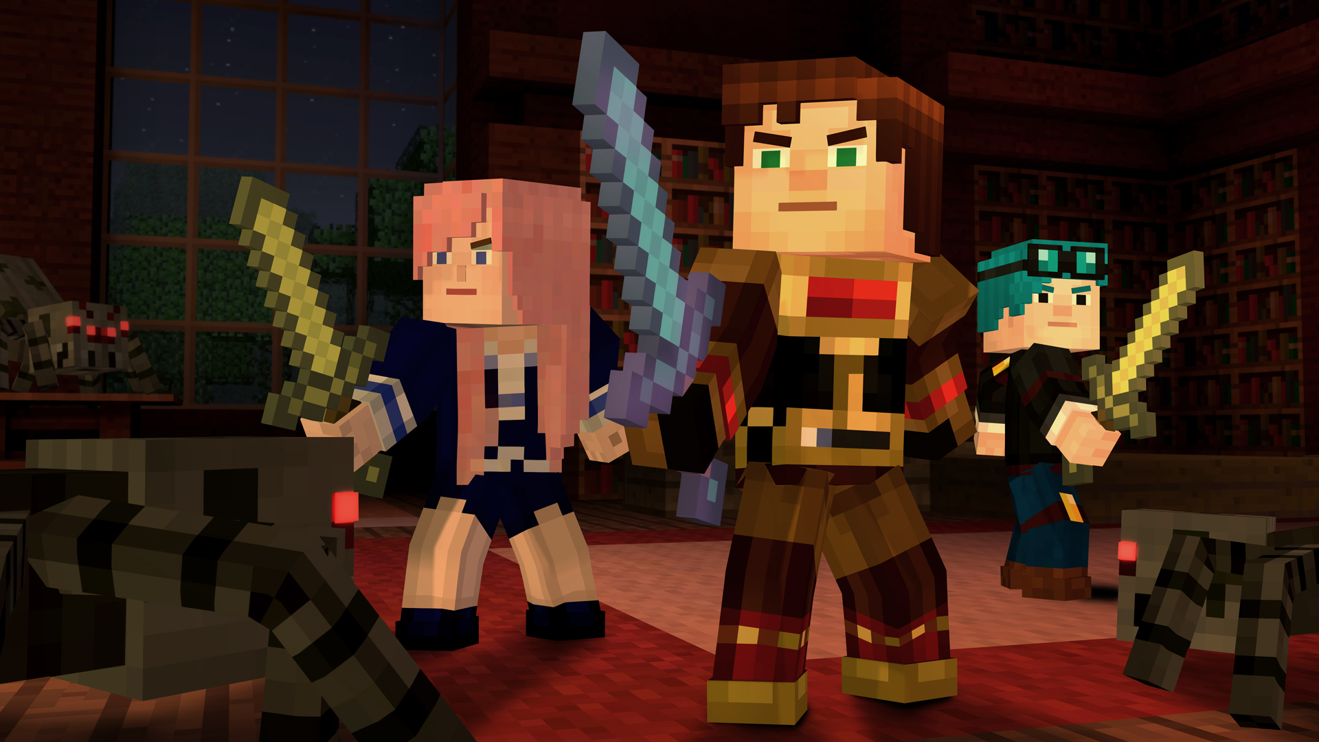Minecraft Story Mode Gets The First Of Three New Episodes Next Week Top Youtubers Join The Cast Gamesradar