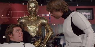 Harrison Ford and Mark Hamill In Star Wars: A New Hope