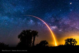 Skywatcher Image of Falcon 9 Launch, May 6, 2016