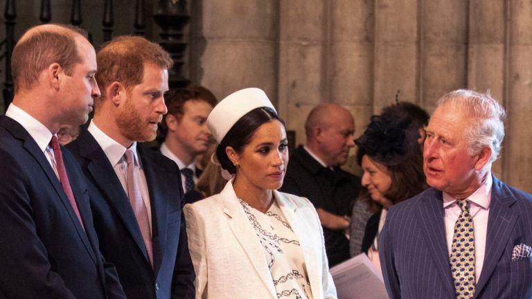 Meghan Markle talking to Prince Charles