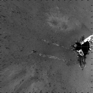 "NASA's Mars rover Curiosity took this image its landing site ""Bradbury Landing"" on Aug. 22, 2012."