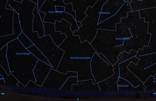 Camelopardalis Sky Map