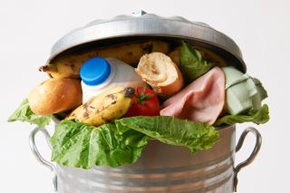 food waste, trashcan
