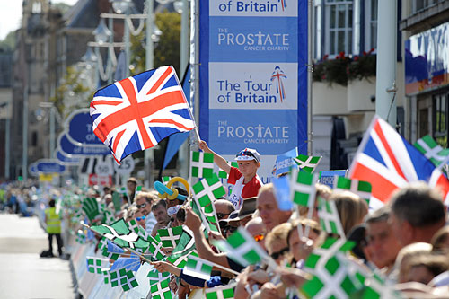 Bideford finish, Tour of Britain 2009, stage six