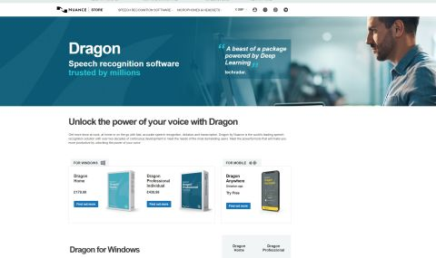 screenshot of the dragon website