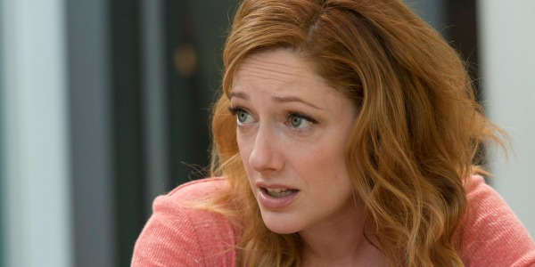 Judy Greer looking exasperated