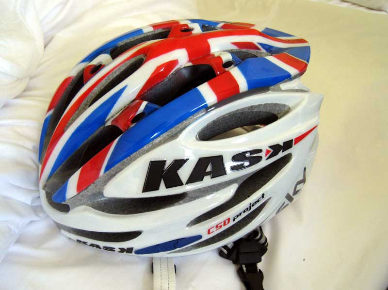 gerant thomas, british national champion, jersey, helmet, tour de france 2010