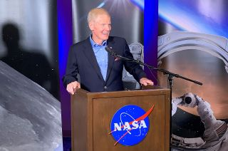 NASA Administrator Bill Nelson, a former space shuttle payload specialist, takes questions from reporters at Johnson Space Center in Houston, Texas on Thursday, Sept. 2, 2021.