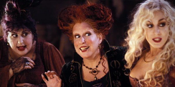 hocus pocus sarah jessica parker, witches, bette midler