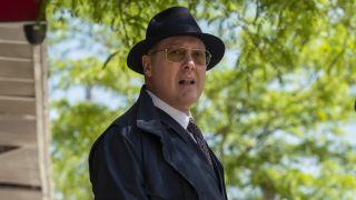Red Reddington in sunglasses outdoors in the blacklist season 8