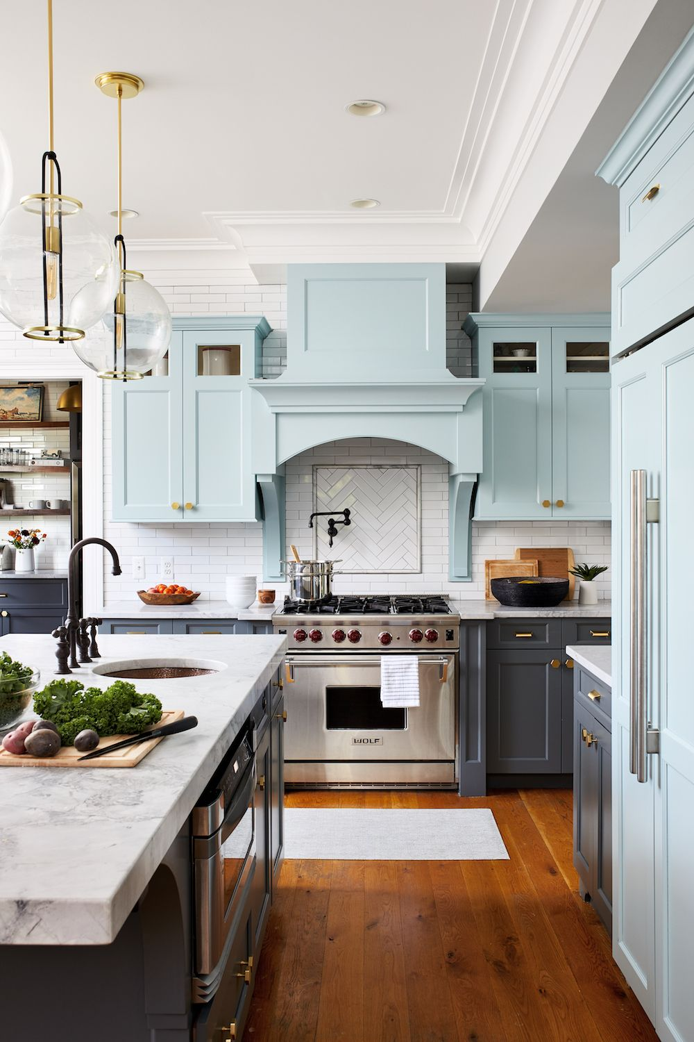 This dated family kitchen has had a fresh new look