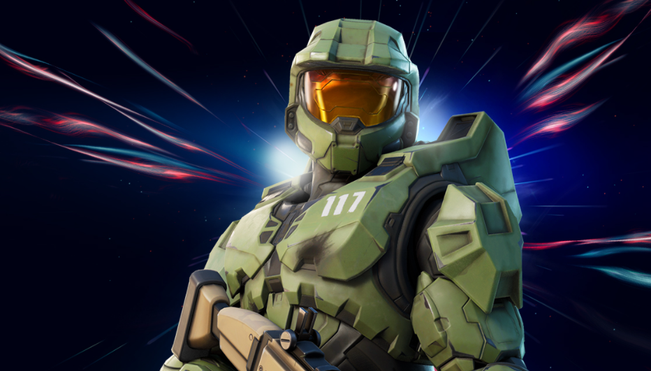 A Fortnite Skin of the spartan, Master Chief