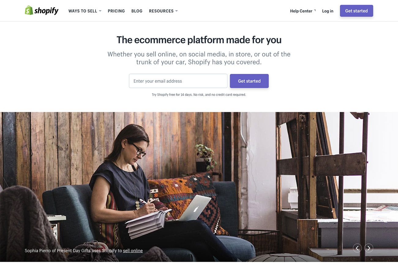 The best website builders: Shopify