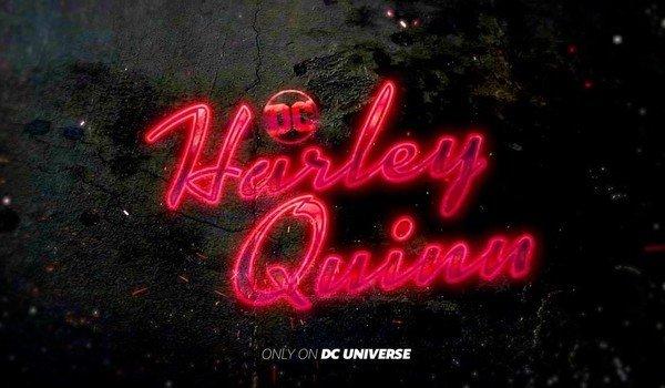 Harley Quinn title card dc universe