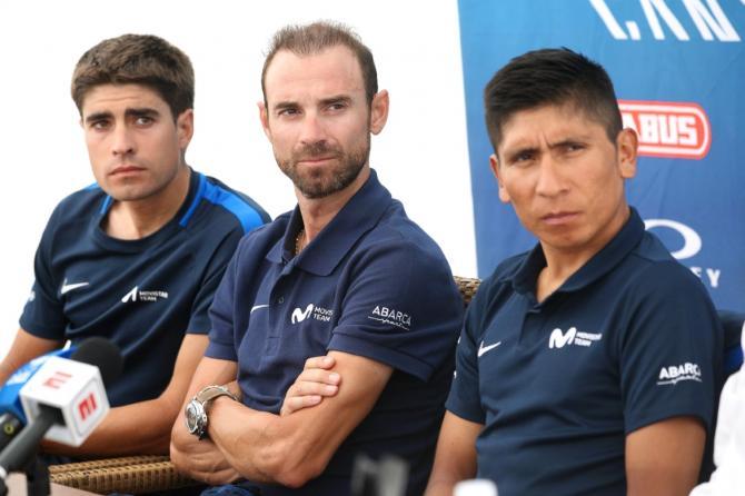 Mikel Landa, Alejandro Valverde and Nairo Quintana (Movistar)