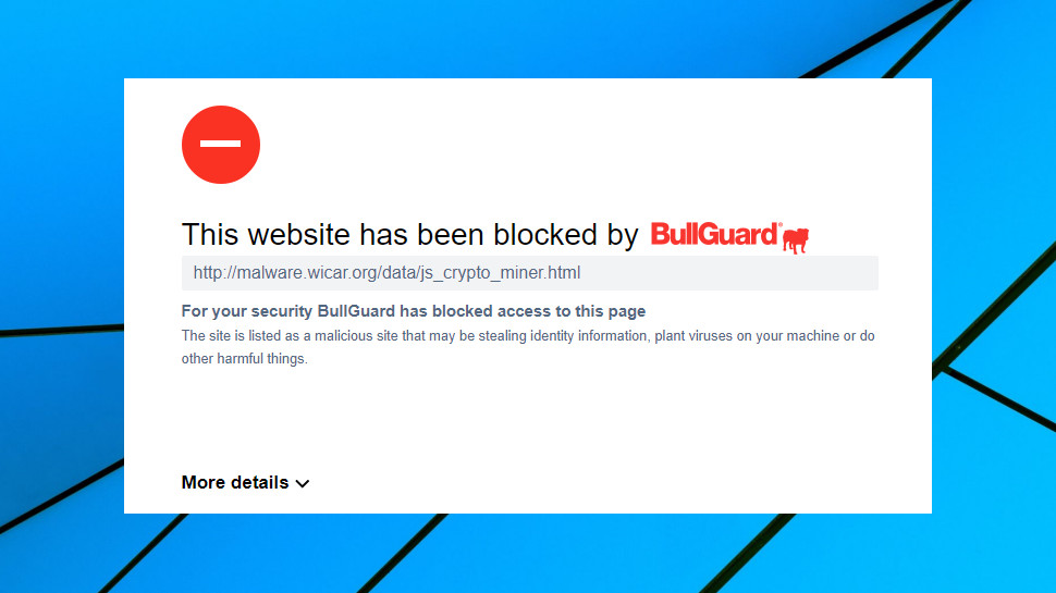 BullGuard Antivirus web protection
