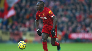 LIVERPOOL, ENGLAND - NOVEMBER 30: Sadio Mane of Liverpool during the Premier League match between Liverpool FC and Brighton & Hove Albion at Anfield on November 30, 2019 in Liverpool, United Kingdom.