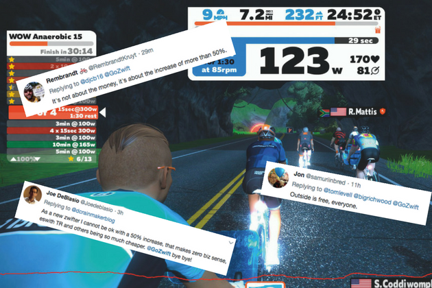 Zwift has just hiked its prices by more than 60 per cent, and lots
