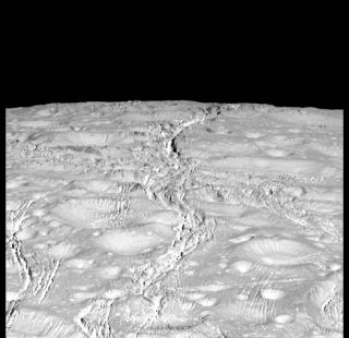 Cassini Photo of Enceladus' North Pole