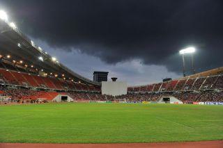 Rajamangla Stadium during FIFA WORLD CUP 2014 between Thailand(B) and Saudi Arabia(W) at Rajamangla Stadium on Oct 11, 2011 Bangkok, Thailand.