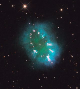 Necklace Nebula Seen by Hubble Space Telescope