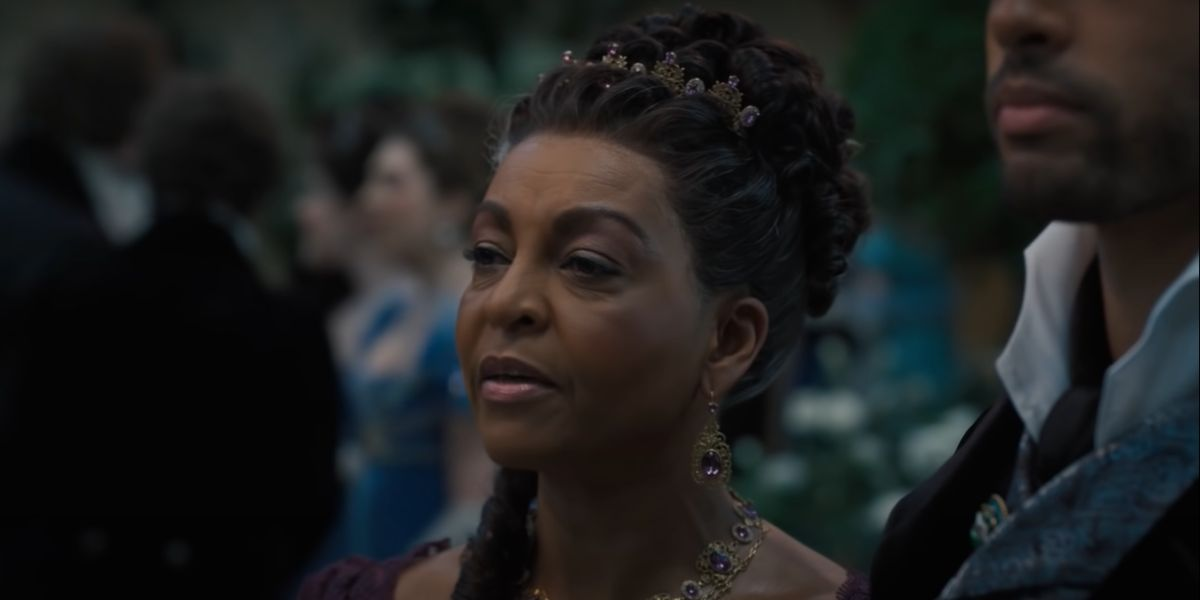 screenshot Bridgerton Adjoa Andoh Rege-Jean Page