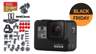 GoPro Hero7 Black Friday bonanza! 32GB card, spare battery + extras just $299!