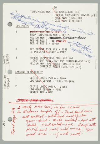 Apollo 13 Burn Notes