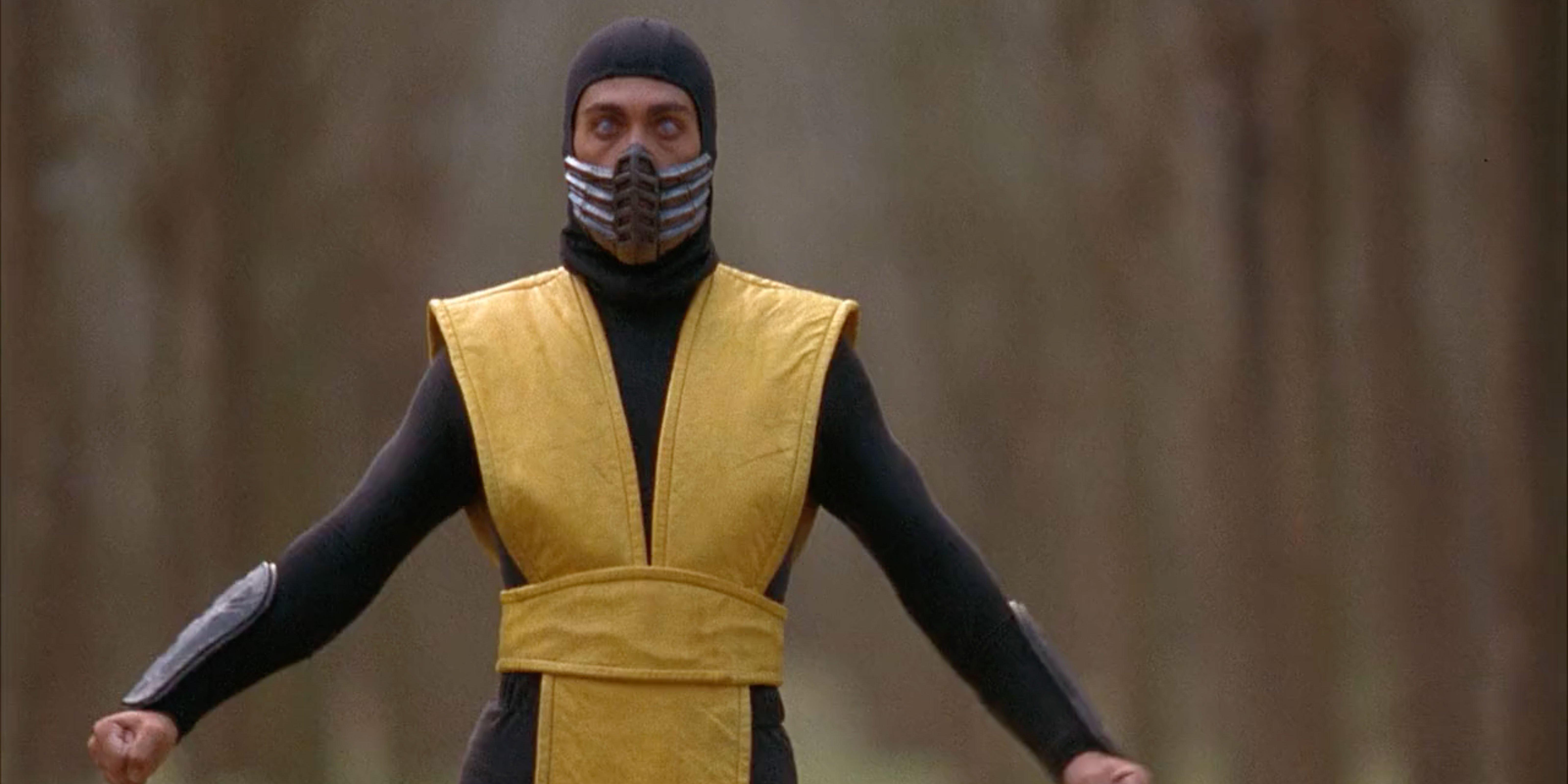 Scorpion prepares to fight in Mortal Kombat