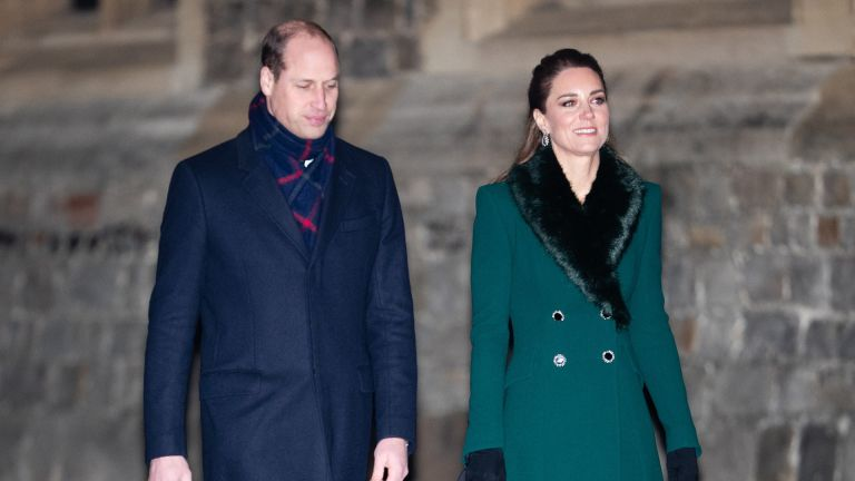 Catherine, Duchess of Cambridge, Prince William, Duke of Cambridge arrive to thank local volunteers and key workers for the work they are doing during the coronavirus pandemic and over Christmas
