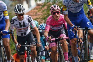 Giro dItalia 2020 103th Edition 16th stage Udine San Daniele del Friuli 229km 20102020 Joao Almeida POR Deceuninck Quick Step Jai Hindley AUS Team Sunweb photo Ilario BiondiBettiniPhoto2020