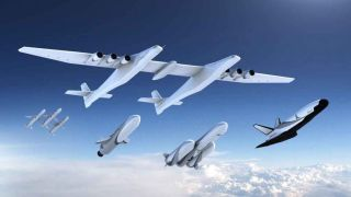 This illustration shows the family of launch vehicles that Stratolaunch had in development.