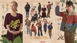 3 posters for the Sex Education serious.