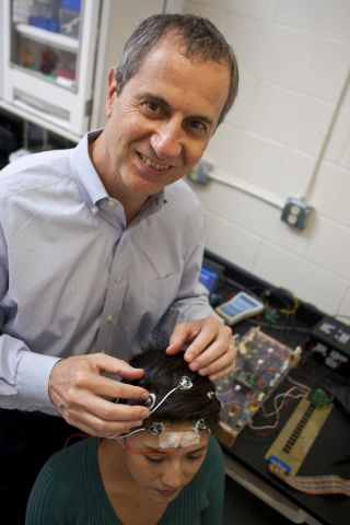 University of Rhode Island Associate Professor of Biomedical Engineering Walt Besio, epilepsy, electrodes, diagnosis