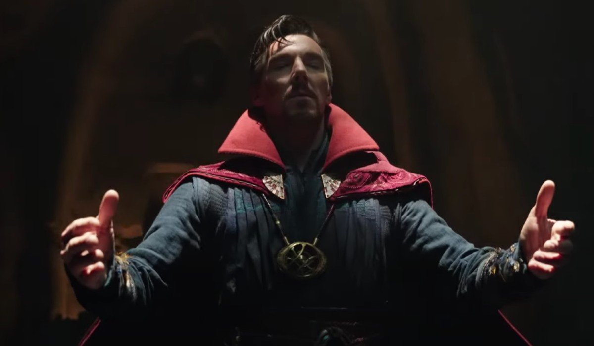 Doctor Strange in deep thought Spider-Man: No Way Home