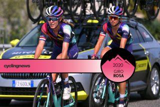 Hannah Barnes and Kasia Niewiadoma Giro Rosa