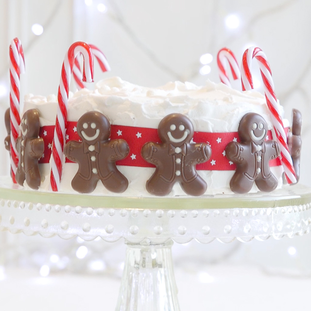 gingermen men christmas cake - Christmas Cake Decoration Ideas