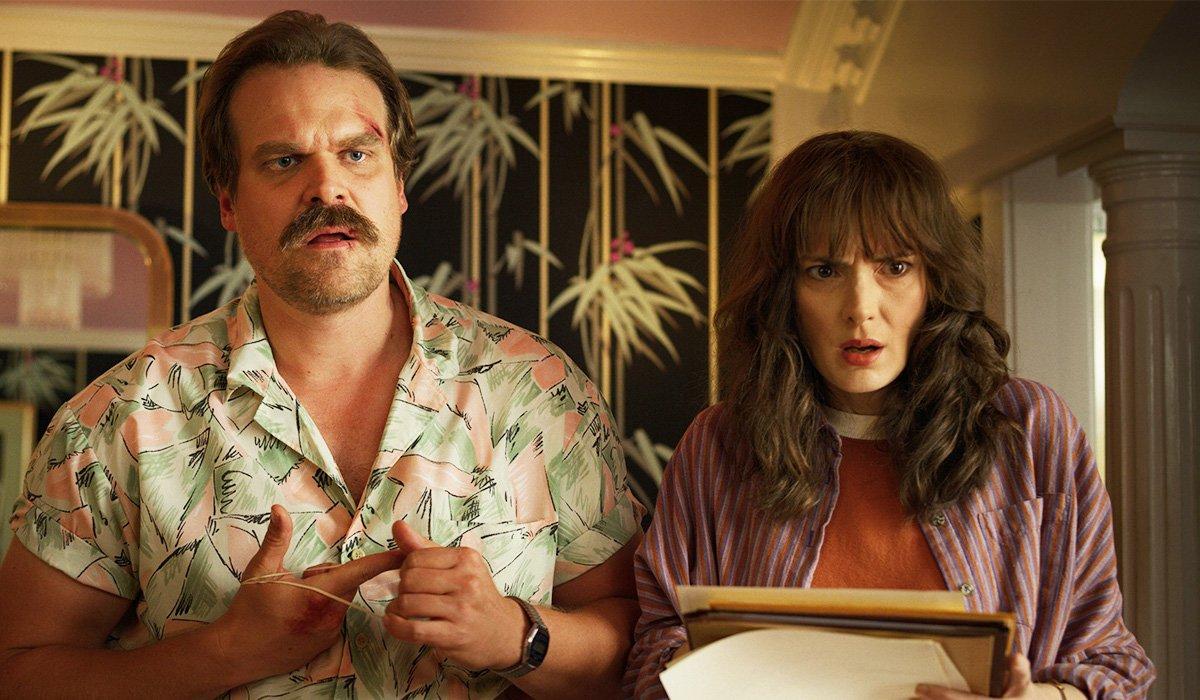 Hopper and Joyce in Stranger Things Season 4