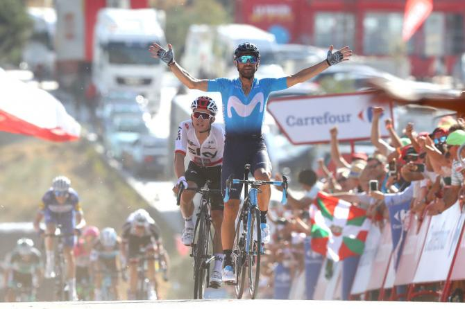 Alejandro Valverde (Movistar) takes the win