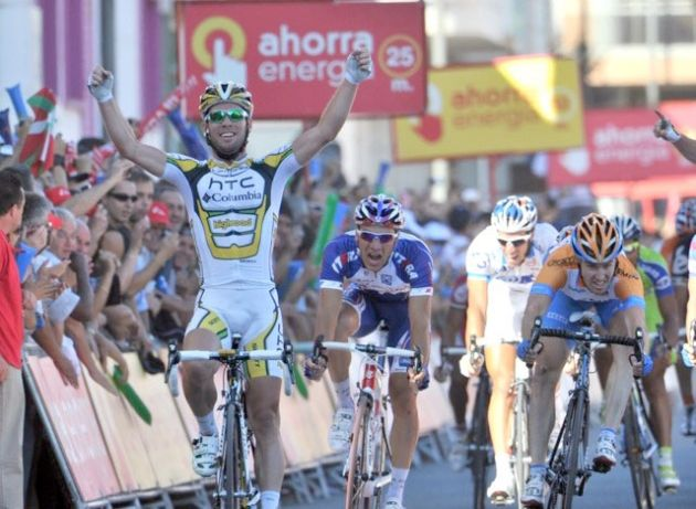 Mark Cavendish wins Vuelta a Espana 2010 stage 12