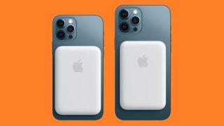 Batteria esterna Apple MagSafe su un iPhone 12 Pro