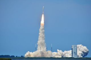 The U.S. Air Force's AEHF 2 satellite blasts off on May 4, 2012.