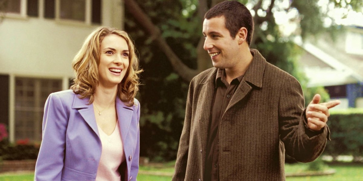 Adam Sandler and Winona Ryder in Mr. Deeds