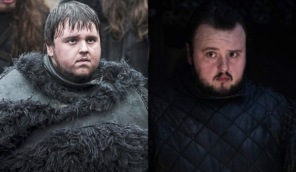 Game of Thrones Samwell Tarly Then and Now